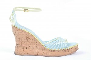 Ricardo Cartillone Platform High-Heeled Sandal baby blue leather