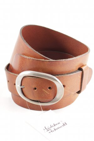 red label Cintura di pelle cognac stile semplice