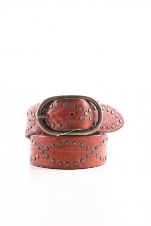 red label Leather Belt red casual look