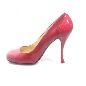 Miu Miu High-Heeled Sandals red