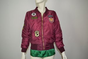 Bomber Jacket purple polyester