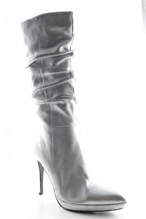 RED shoe Absatz Stiefel silberfarben extravaganter Stil