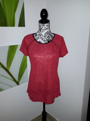 Red#T-shirt#Leather#Sports
