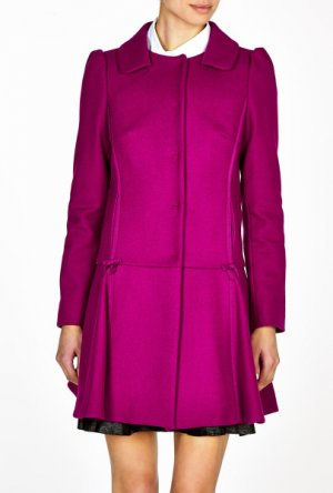 Valentino Short Coat magenta wool