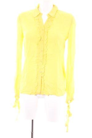 RED Valentino Rüschen-Bluse gelb Elegant