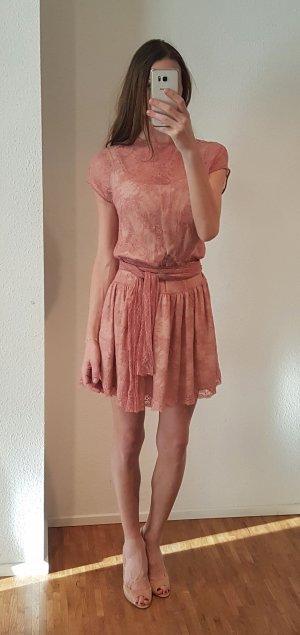 RED Valentino Abito linea A color carne-rosa antico