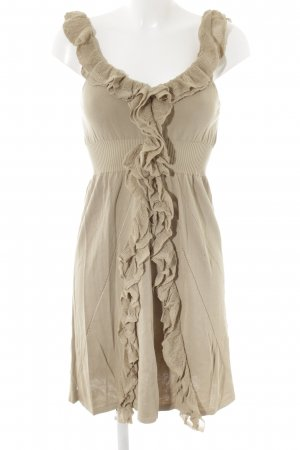 RED Valentino Stretchkleid beige Lochstrickmuster Elegant