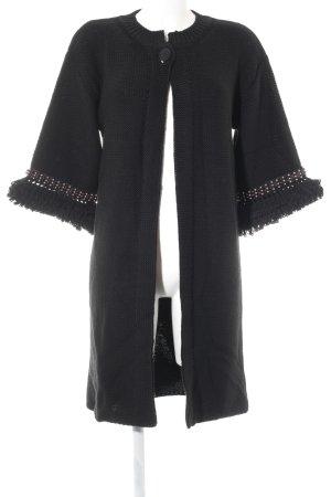RED Valentino Gebreide jas zwart elegant