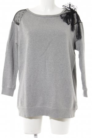 RED Valentino Sweatshirt hellgrau-schwarz Casual-Look