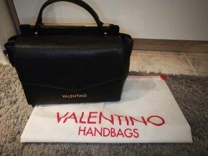 Mario Valentino Bolso negro-color oro Imitación de cuero