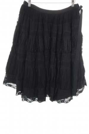 RED Valentino Gonna di tulle nero stile romantico