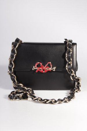 Red Valentino Umhängetasche Shoulder Bag Bone/Bow Chain Black I