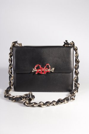 Red Valentino Umhängetasche Shoulder Bag Bone/Bow Chain Black II