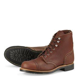 Red Wing Shoes Schnürstiefel Leder braun handmade 41 Iron Ranger 3365 NEU