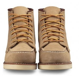 Red Wing Lace-up Booties camel suede