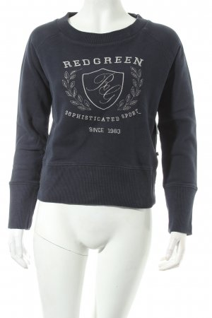 redgreen Longpullover dunkelblau platzierter Druck Street-Fashion-Look
