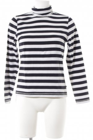 redgreen Longsleeve weiß-dunkelblau Streifenmuster Casual-Look