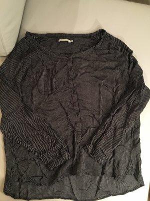 REDGREEN Tunika Tunikabluse, schwarz, grau gestreift, Gr.XL, NEU und ungetragen