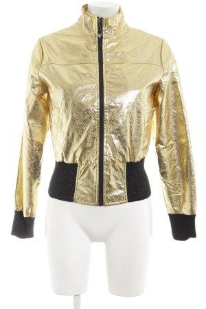 Redial Luxury Veste courte doré-noir style mouillé