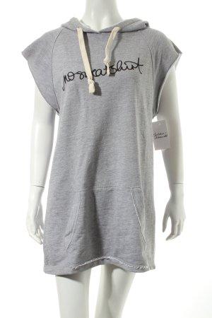 redirection Kapuzenshirt hellgrau meliert Street-Fashion-Look