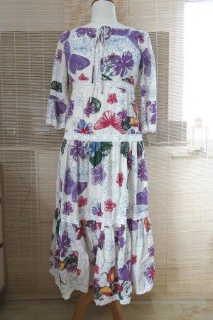 REDLEY langes Kleid Hippie Coachella Flower Power Baumwolle Gr. M