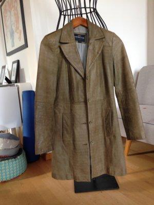 REDSKINS Ledermantel olivgrün-khaki Vintage