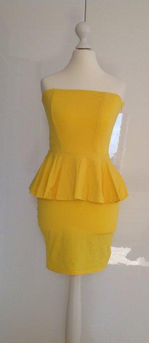 Schulterfreies Schößchenkleid von Stefanel in gelb
