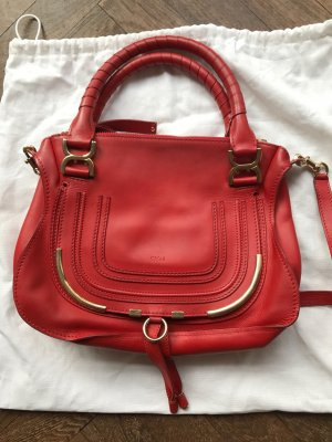 Chloe Marcie Medium Handtasche in Rostrot