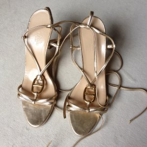 Goldene Hermes Sandalen Pumps