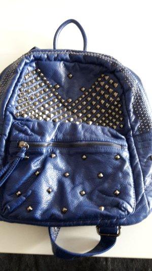 Reduziert! Blauer Rucksack mit Nieten