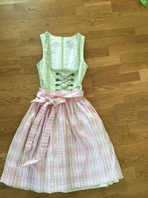 Distler Dirndl pink-pale green