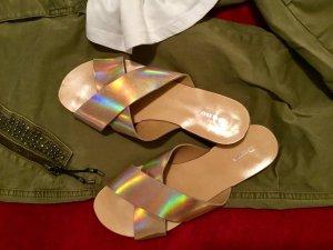 ⭐️REDUZIERT ⭐️Dune Sandalen mehrfarbig Glanz-Optik