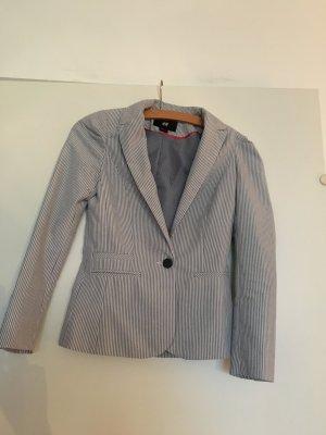 Reduziert! hellblau längs gestreifter Blazer von H&M, Größe 34
