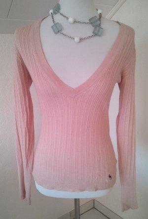 reduziert% Pullover,Pulli in rosa, tiefer v-Ausschnitt,flashLights,Gr.S/36