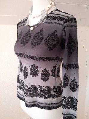 Reduziert%schickes Langarm-Shirt,schwarz,grau in Gr.S/36 von Moreland