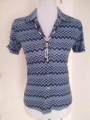 %reduziert♡schönes T-Shirt/Bluse Retro/s.Oliver,Gr.36,blau,mit Perlmuttknöpfen