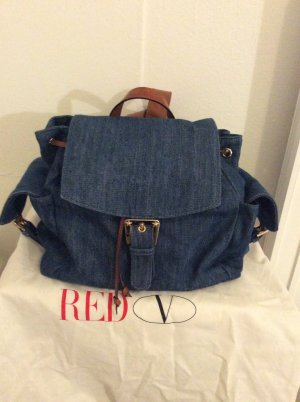 RED Valentino Canvas Bag blue cotton