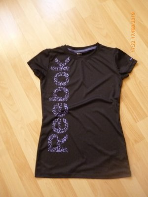 Reebock Shirt gr L schwarz mit-Print kaum angehabt wie neu