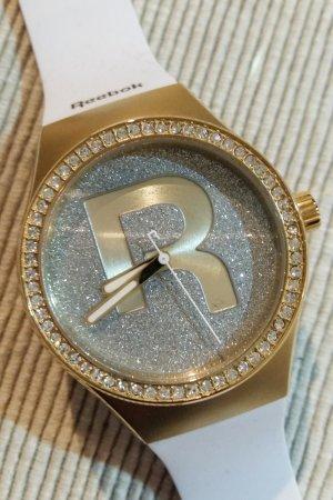 Reebok Armbanduhr Weiß Gold Glitzer NEU