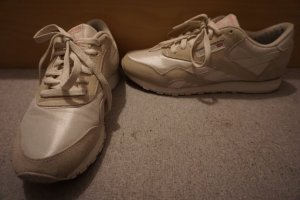 Reebok Sneakers met veters wit-licht beige