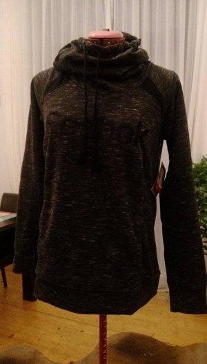 Reebok Sweat à capuche noir-argenté tissu mixte