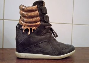 Reebok, Damen Sneaker,  Knöchelhohe Boots , Wildleder mit Bronzeapplikationen