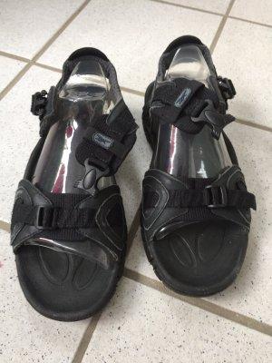 Reebok Sandalias para uso en exteriores negro Cuero