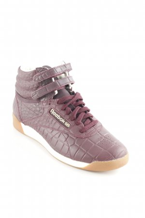 Reebok High Top Sneaker dunkelviolett Reptil-Optik