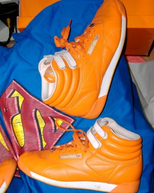 Reebok High Top Sneaker Orange