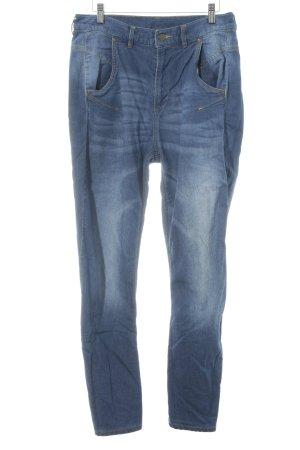 Reebok High Waist Trousers steel blue-cornflower blue casual look