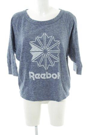 Reebok Sweatshirt blau meliert Casual-Look