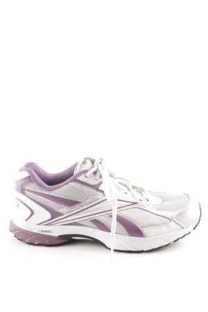 Reebok Schnürschuhe weiß-lila sportlicher Stil