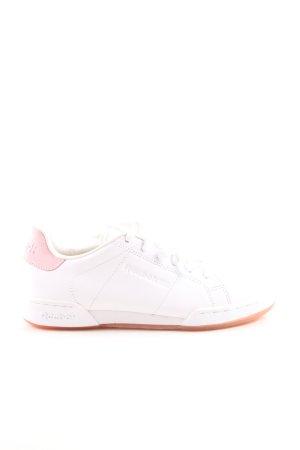 Reebok Schnürsneaker weiß-pink Casual-Look