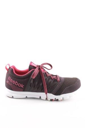 Reebok Schnürsneaker braunrot-neonpink sportlicher Stil